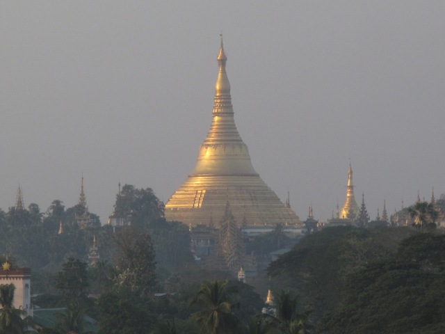 View for Shwedagon from  Sapphire Lounge