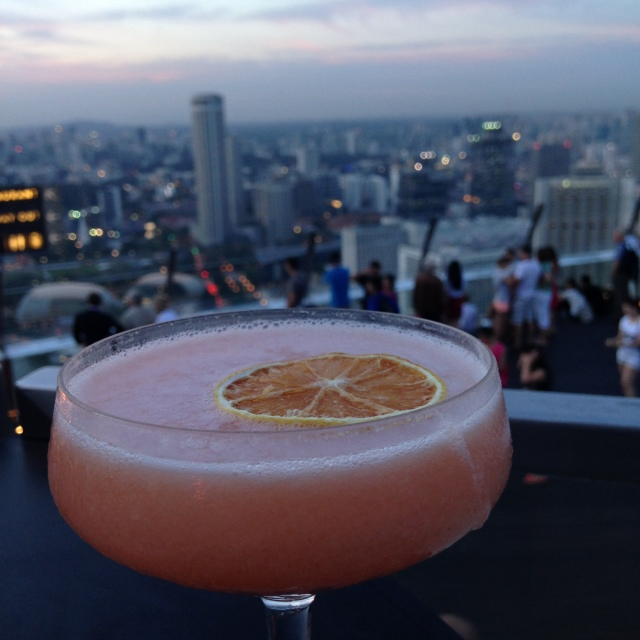 Plus, a fancy cocktail always tastes better with a view.